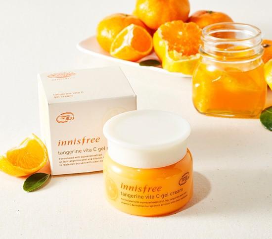 Kem Dưỡng Sáng Da Và Mờ Thâm Nám Innisfree Tangerine Vita C Gel Cream