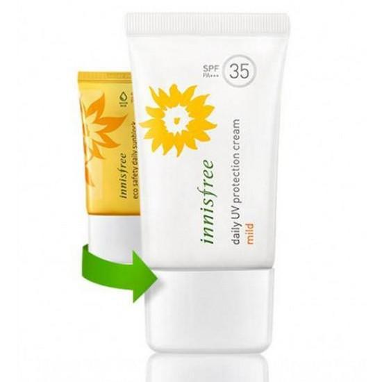 Kem Chống Nắng Dưỡng Ẩm Innisfree Daily UV Protection Cream Mild SPF35 PA++