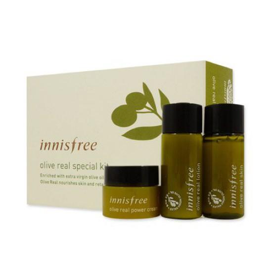 Bộ Dùng Thử Dưỡng Da Innisfree Olive real Special Kit (3 Sản Phẩm)