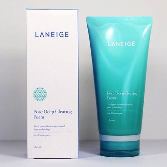 [BIG SALE] Sữa Rửa Mặt Làm Sạch Lỗ Chân Lông Laneige Pore Deep Cleansing Foam 160ml