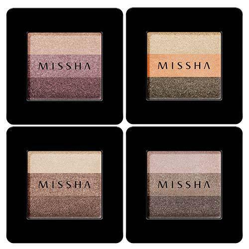 Phấn Mắt 3 Màu Đẹp Hoàn Hảo Missha The Style Triple Perfection Shadow