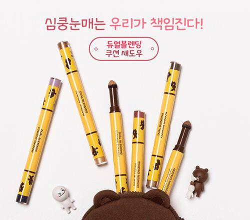 [BIG SALES] Phấn Mắt Dạng Bút 2 Đầu Missha Dual Blending Cushion Shadow (Phiên Bản Line Friends)