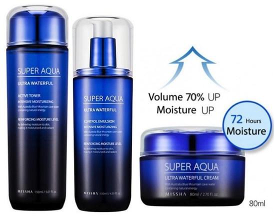 Bộ Dưỡng Ẩm Missha Super Aqua Three Sets Of Ultra Water Full Basic Set