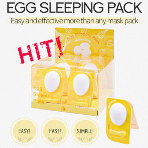 Mặt Nạ Ngủ Dưỡng Trắng Và Se Khít Lỗ Chân Lông Nature SC Egg Sleeping Pack 4g