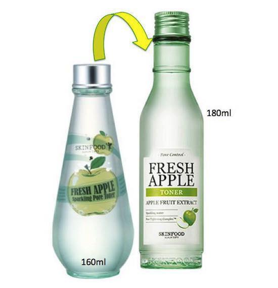 Nước Hoa Hồng Se Khít Lỗ Chân Lông Chiết Xuất Táo Skinfood Fresh Apple Sparkling Pore Toner 180ml (Mới 2016)