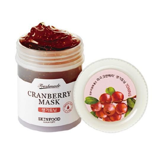 Mặt Nạ Dưỡng Sáng Da Và Chống Lão Hoá Skinfood Freshmade Cranberry Mask 90ml