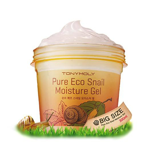 Gel Dưỡng Hồi Phục Da Và Giảm Thâm Nám Chiết Xuất Ốc Sên Tonymoly Pure Eco Snail Moisture Gel 300ml