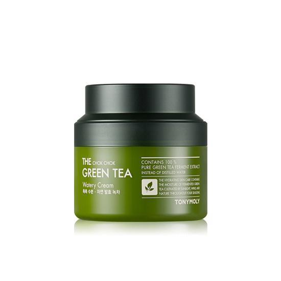 Kem Dưỡng Trà Xanh Lên Men Chống Lão Hoá Tonymoly Chok Chok Green Tea Watery Cream 100ml (Hủ Lớn)