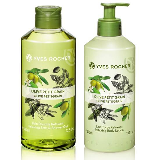 Bộ Dưỡng Thể Nước Hoa Siêu Thơm Và Ẩm Mịn Da Olive Yves Rocher Olive Petit Grain Body Set