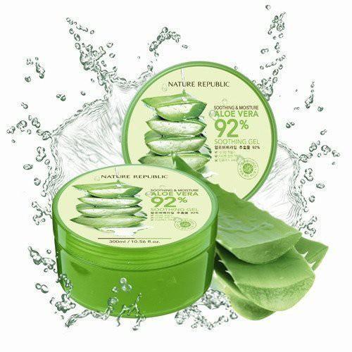 [BIG SALES] Gel Giữ Ẩm Chiết Xuất Lô Hội Natural Republic Soothing & Moisture 92% Aloe Vera 300ml