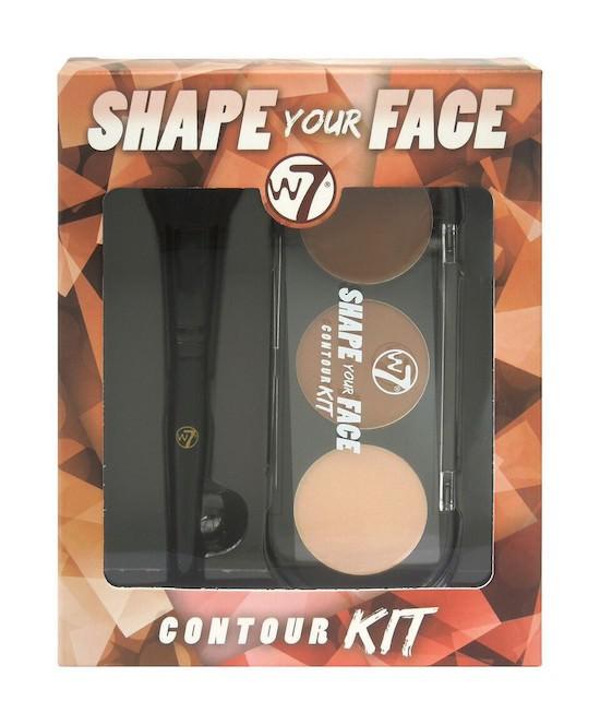 Phấn Tạo Khối 3 Ô W7 Shape Your Face Contour Kit