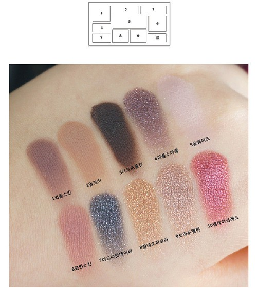 [BIG SALES] Bảng Phấn Mắt 10 Màu Romand Perfect Styling Eye Palette #Temptation Night