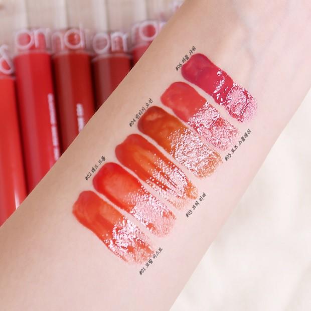 [Đồng giá 55K] Son Tint Nước Siêu Lì, Lâu Trôi Romand Glasting Water Tint #07 Pink Valley