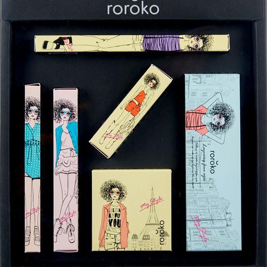 Bộ Trang Điểm 6 Món Phiên Bản Màu San Hô Roroko Coral Wonder Girl Make Up Box Set
