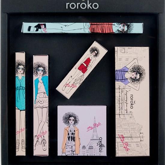 Bộ Trang Điểm 6 Món Tiện Lợi Phiên Bản Màu Muse Tự Nhiên Roroko Color Muse Make - Up Box Set