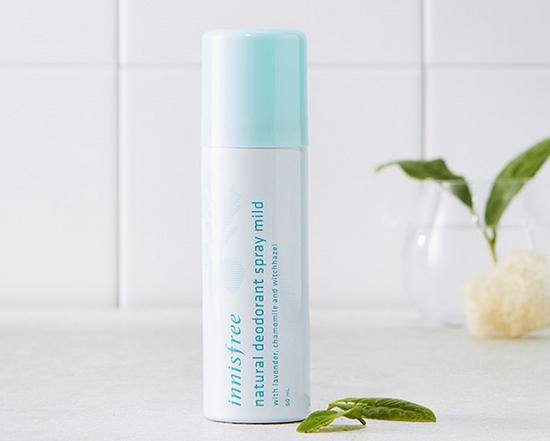 Xịt Khử Mùi Cơ Thể Innisfree Natural Deodorant Spray Mild 50ml