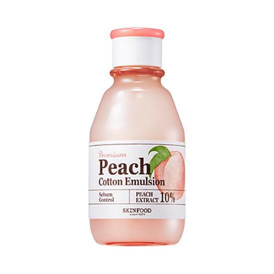 Sữa Dưỡng Kiềm Dầu Và Se Khít Lỗ Chân Lông Skinfood Peach Cotton Emulsion 140ml (Mới)