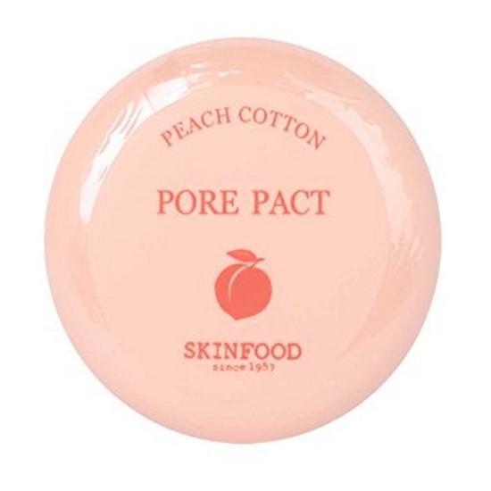 Phấn Phủ Nén Kiềm Dầu Skinfood Peach Cotton Pore Pact 9g