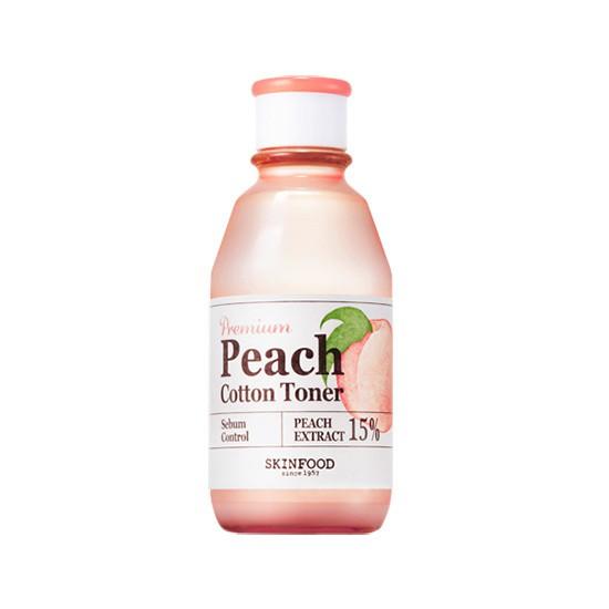 Nước Hoa Hồng Sáng Da, Kiềm Dầu Và Se Khít Lỗ Chân Lông Skinfood Peach Cotton Toner 175ml