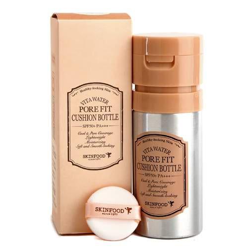 Kem Nền Skinfood Vita Water Pore Fit Cushion Bottle SPF 50 PA+++ 120ml