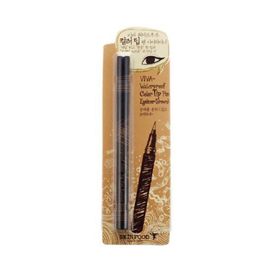 Bút Kẻ Mắt NướcChống Trôi Skinfood Viva Waterproof Color Tip Pen Eyeliner (Brown)