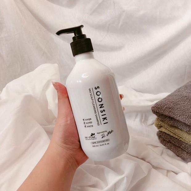 [Đồng giá 55K] Dầu gội Thảo Dược Cao Cấp Sạch Gàu Siêu Mát Lạnh Soonsiki Cleansing Shampoo 500ml