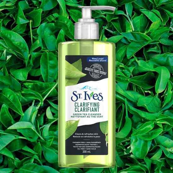 Gel Rửa Mặt Ngăn Ngừa Mụn Chiết Xuất Trà Xanh St.Ives Clarifying Clarifiant Green Tea Cleanser 200ml