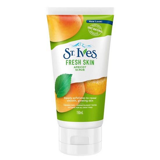 Tẩy Tế Bào Chết Dưỡng Da Trị Mụn Chiết Xuất Quả Mơ St.Ives Fresh Skin Apricot Scrub 150ml