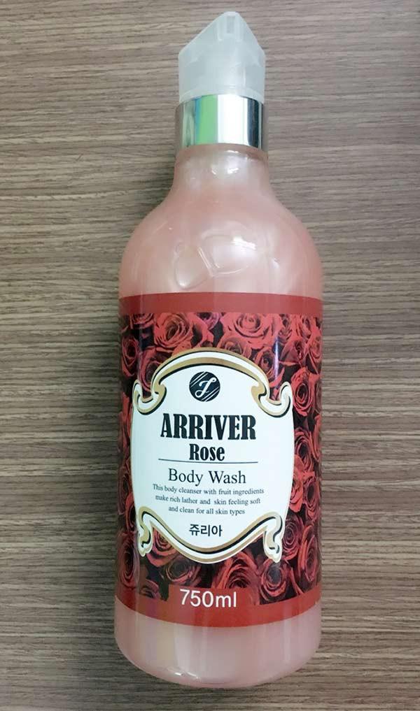 Sữa Tắm Arriver Hương Hoa Hồng 750ml