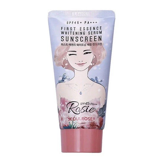 Kem Chống Nắng Rosie Seoul Rose First Essence Whitening Serum Sunscreen SPF45/Pa+++