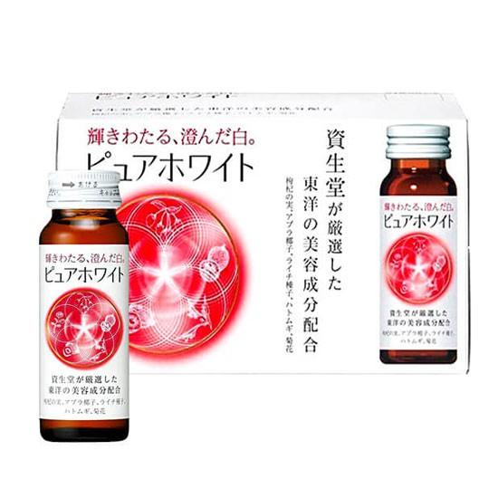 Nước Uống Trắng Da Shiseido Pure White (Hộp 10 Lọ x 50ml)
