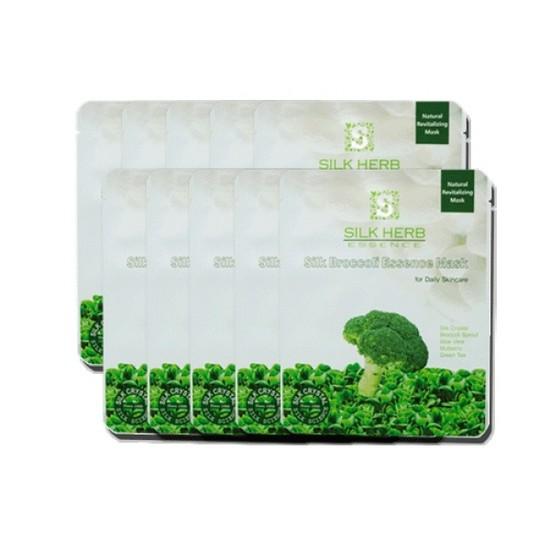 Mặt Nạ Lụa Tinh Chất Bông Cải Xanh Silk Herb Essence Silk Broccoli Essence Mask