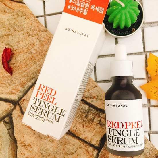 [HOT] Tinh Chất Tái Tạo Và Phục Hồi Da So Natural Red Peel Tingle Serum 30ml