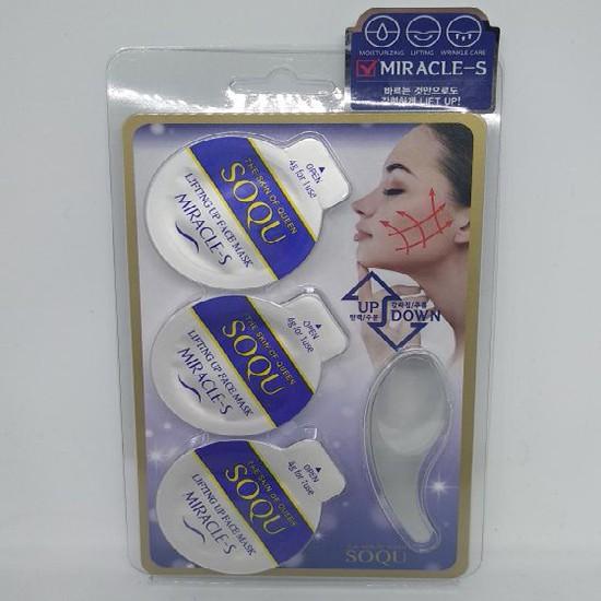 Hộp 3 Hũ Mặt Nạ Giúp Nâng Cơ Mặt Và Tái Tạo Da Soqu Miracle-S Lifting Up Face Mask