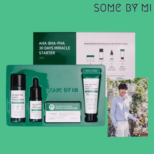 Bộ Dùng Thử Trị Mụn Some By Mi AHA-BHA-PHA 30 Days Miracle Travel Kit (4 Sản Phẩm)
