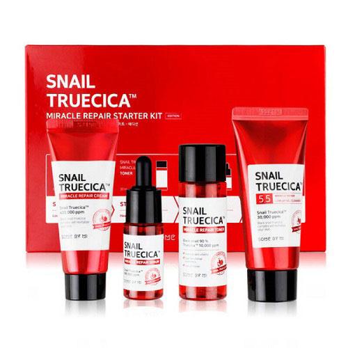 Bộ Kit Phục Hồi, Tái Tạo Da Ốc Sên Some By Mi Snail Truecica Miracle Repair Starter Kit (4 Sản Phẩm)