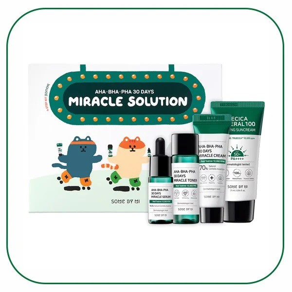 Bộ Kit Trị Mụn Some By Mi AHA-BHA-PHA 30 Days Miracle Solution 4-Step (Kit-Edition)