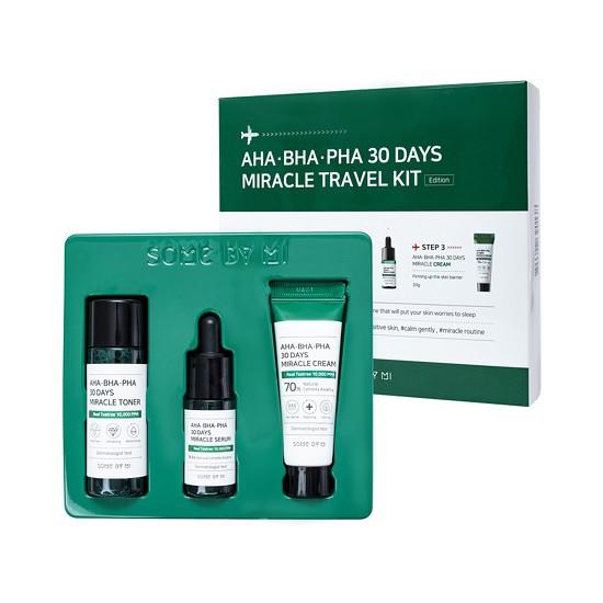 Bộ Dùng Thử Trị Mụn Some By Mi AHA- BHA-PHA 30 Days Miracle Travel Kit (3 Sản Phẩm)