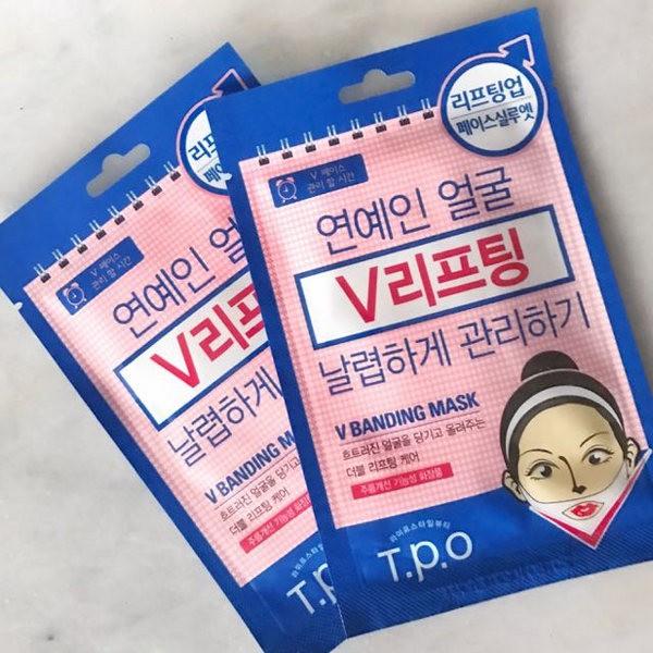 Mặt Nạ Nâng Cơ Tạo Cằm V-Line Mediheal T.P.O V Banding Mask