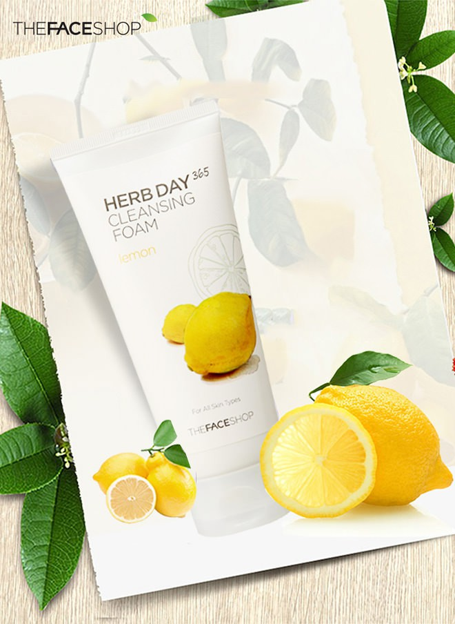 Sữa Rửa Mặt Chanh Herb Day 365 Cleansing Foam Lemon 170ml