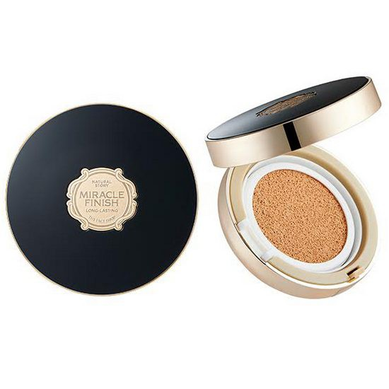 Phấn Nước The Face Shop Miracle Finish CC Long Lasting Cushion SPF50+ PA+++