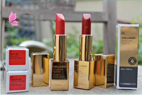 Son Thỏi Collagen The Face Shop Collagen Ampoule Lipstick 3,5g