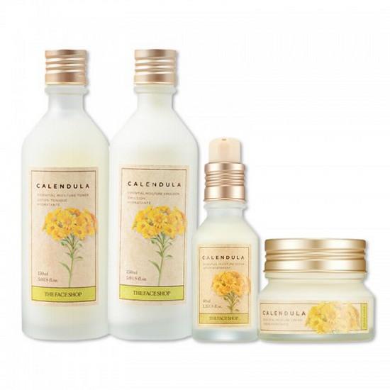 Bộ Làm Mờ Vết Thâm Và Ngăn Ngừa Nếp Nhăn The Face Shop Calendula Essential Set