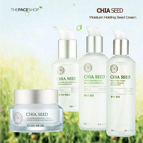 Bộ Dưỡng Ẩm Và Chống Lão Hoá Cho Da Dầu Chiết Xuất Hạt Chia The Face Shop Chia Seed Set