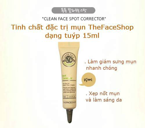 Kem Trị Mụn The Face Shop Clean Face Spot Corrector 15ml