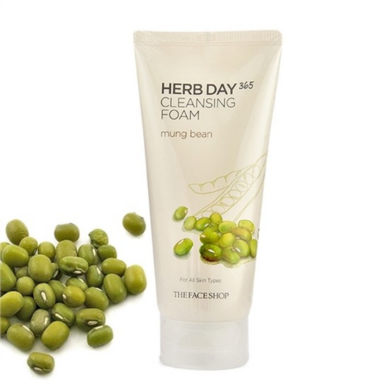 [BIG SALES] Sữa Rửa Mặt Đậu Xanh The Face Shop Herb Day 365 Cleansing Foam Mung Beans 170ml