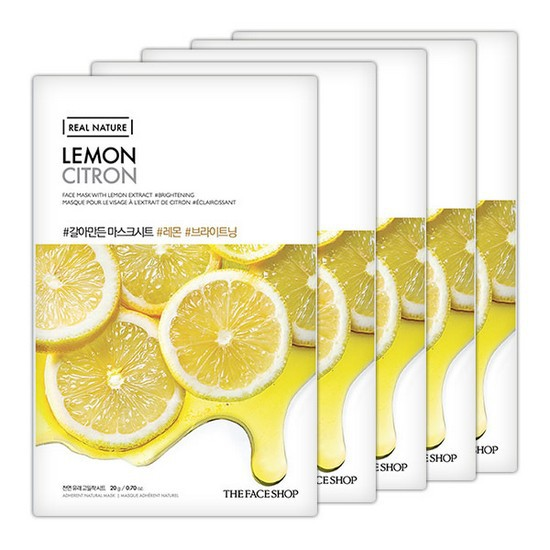 Combo 10 Mặt Nạ Chanh Ngăn Ngừa Mụn The Face Shop Real Nature Lemon Mask Sheet
