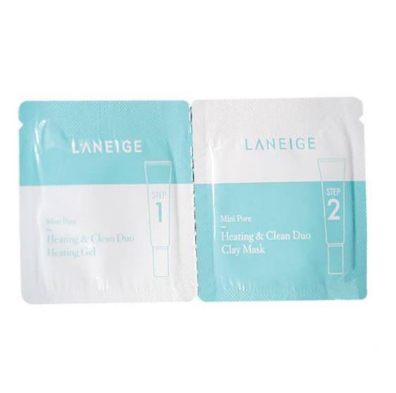Bộ Dùng Thử Se Khít Lỗ Chân Lông Laneige Mini Pore Heating & Clean Duo Heating