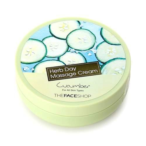 Kem Mát Xa Tái Tạo Da The Face Shop Herb Day Massage Cream 150ml