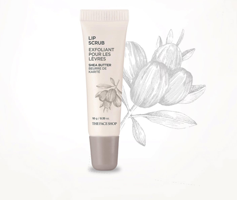 Tẩy Tế Bào Chết Và Giảm Thâm Môi The Face Shop Lip Scrub Shea Butter 10g
